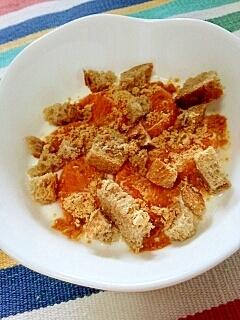 【キレイ応援朝食】シトラスラスクきなこヨーグルト♪