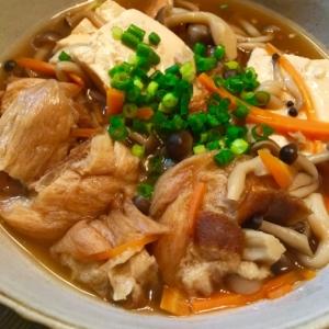 豆腐と油揚げのトロッと煮込み