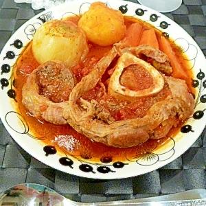 圧力鍋でとろとろ♪オーソ・ブッコのトマト煮