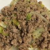 白菜とひき肉の炒め物