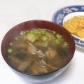 ナスと舞茸のお味噌汁