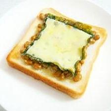 ☆簡単☆納豆チーズトースト