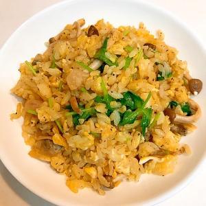 休日の朝ごはんに☆しめじとシーフードの炒飯