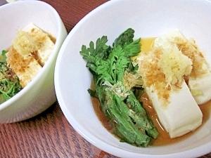 湯豆腐をすぐ食べたい☆ レンジで簡単「温奴」