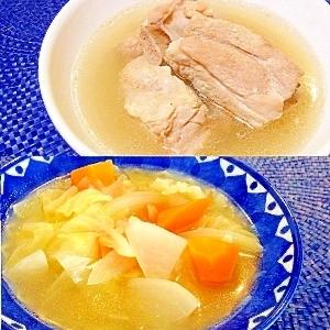 バクテーの素で2度おいしいスープ