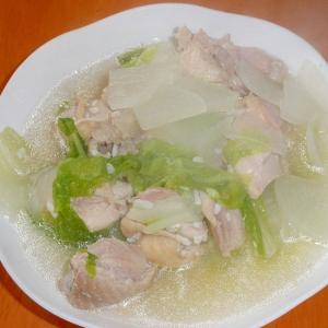 鶏肉と白菜と大根の塩麹煮