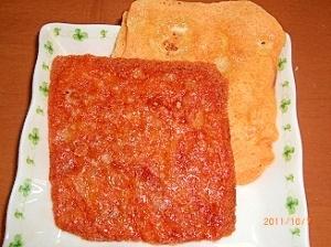 フライパンで焼くだけ パリッとチーズせんべい