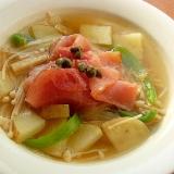 +生ハム❤野菜とキノコのスープ♪(じゃが芋ほか)
