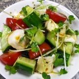 トマトカマンキュウリの和風サラダ