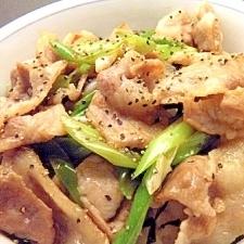 豚肉のマヨ醤油炒め丼