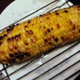 冷凍にしたトウモロコシで焼きトウモロコシ