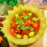 ひんやり冬瓜の出汁カレースープ