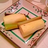 焼マコモダケ、七味・味噌マヨで