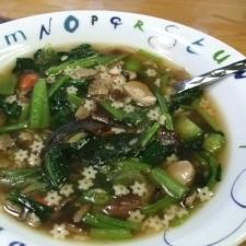 小松菜たっぷりスープ