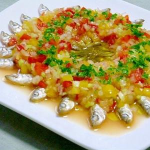 ノンフライド わかさぎの香味野菜マリネ