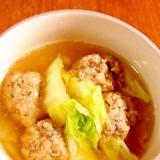 いわし団子の和風スープ