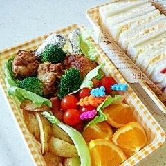 幼稚園遠足のサンドイッチ弁当2013(年少組)