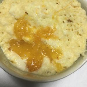 完熟柿の豆腐蒸しパン