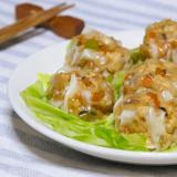 豆腐の炒り煮で☆超節約ベジタリアンシューマイ