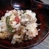 山飯★メスティンでサンマ味噌煮の炊込みご飯