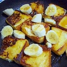 フレンチトースト バナナと共に♪