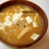 *玉ねぎと豆腐の味噌汁*