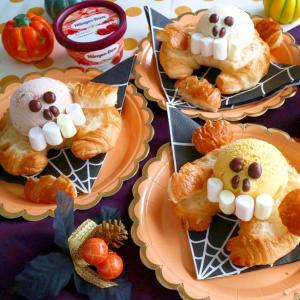 アイスクリームで作る♪ハロウィンオープンサンド
