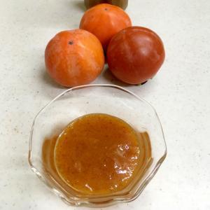熟した柿で♡柿バタージャム