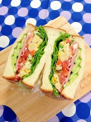 簡単リメイク☆残ったポテサラdeサンドイッチ♪