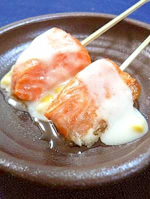 パッちゃん魚串☆サーモンホワイトソース