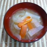 大根と人参と玉ねぎの味噌汁