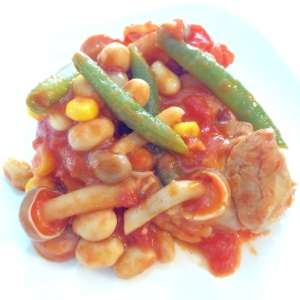野菜もたっぷり☆チキンのトマト煮