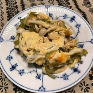 ブナピーとピーマンの卵チーズ炒め