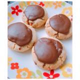 バター不要!みかんピール×チョコレートクッキー♡