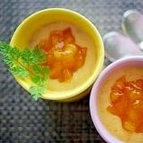 ゼラチンなしで固まる!柿のプリン