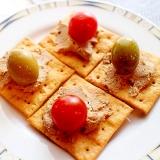 【超簡単】前菜やおつまみ♪レバーペーストのカナッペ