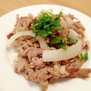 新タマネギと豚肉の塩炒め