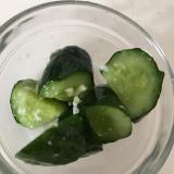 塩麹と生姜のきゅうりの浅漬け