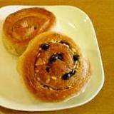 デニッシュ風☆チョコナッツパンとシュガーパン