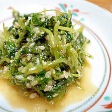 大根菜の味噌ゴマ炒め