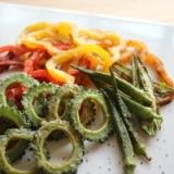 ゴーヤと夏野菜のチップスを美しく仕上げる