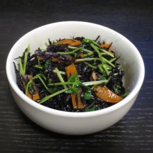ひじきと豆苗の中華炒め