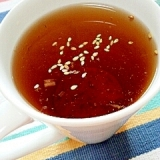 キューちゃんで☆スープ仕立ての甜茶♪