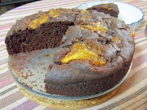 マーマレードココアケーキ