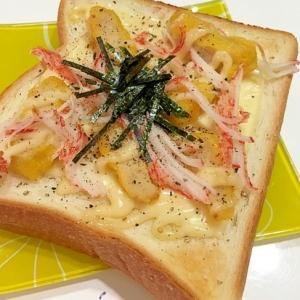 刻みナゲットとかにかまのチーズのトースト