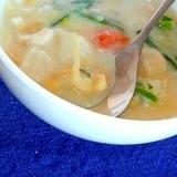 冬野菜のクリームスープ