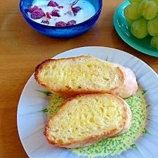 朝食に栄養簡単アップハニートースト