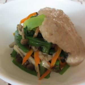 インゲンといろいろ野菜の豆腐ゴマクリーム