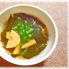 ♪♪簡単★定番★旬のたけのこで、若竹汁♪♪