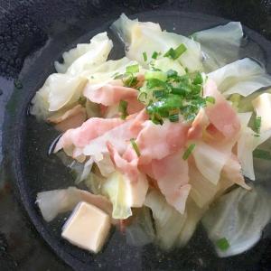 キャベツ×ベーコン×チーズの簡単スープ☆